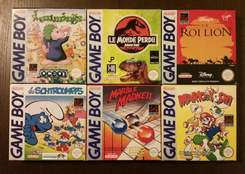 Mon full set gameboy FAH (boite + loose) 1010