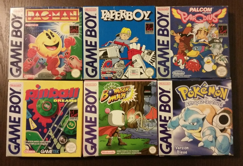 Mon full set gameboy FAH (boite + loose) 1310