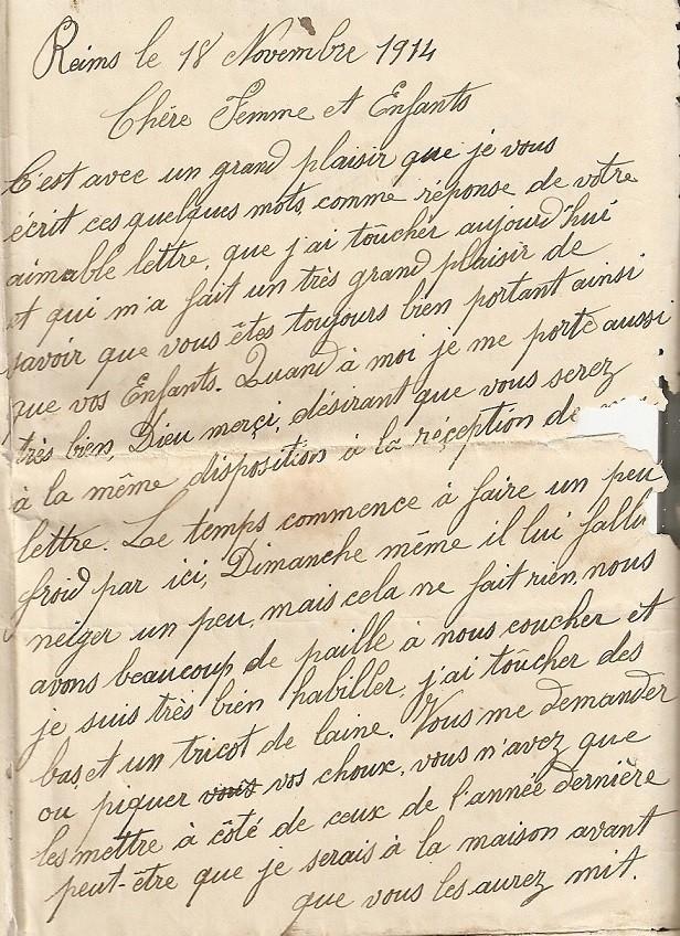 [ Histoires et histoire ] LE CENTENAIRE DE LA GRANDE GUERRE - Page 3 Lettre10
