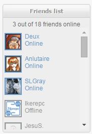 [DEMO] Widget : Friends List Previe10