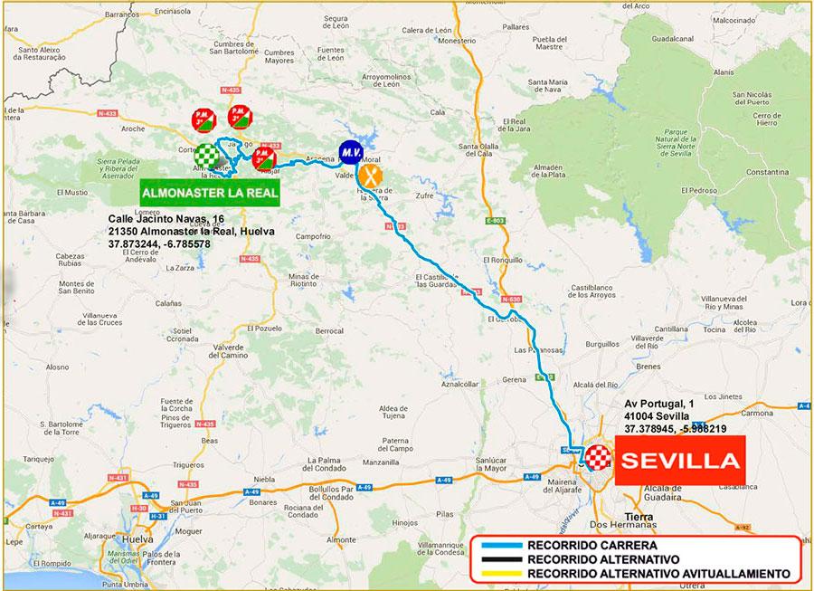 planimetria 2016 » 62nd Vuelta a Andalucia Ruta Ciclista Del Sol (2.1) - 1a tappa » Almonaster la Real › Sevilla (165.2 km)