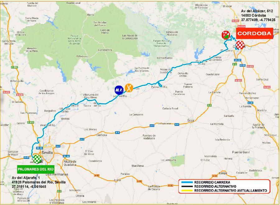 planimetria 2016 » 62nd Vuelta a Andalucia Ruta Ciclista Del Sol (2.1) - 2a tappa » Palomares del Río › Córdoba (186.3 km)