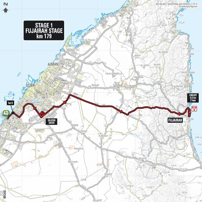 planimetria 2016 » 3rd Dubai Tour (2.HC) - Stage 1 » Dubai › Fujairah (179 km)