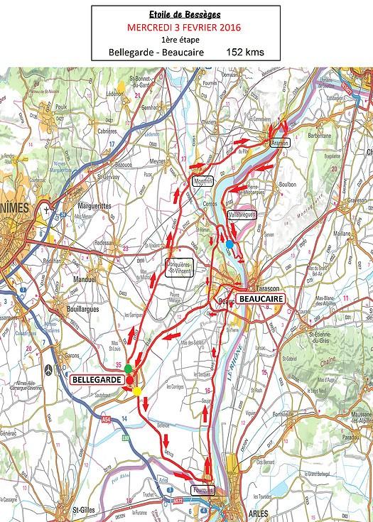 planimetria 2016 » 46th Etoile de Bessèges (2.1) - 1a tappa»Bellegarde ›Beaucaire (156 km)