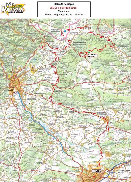 planimetria 2016 » 46th Etoile de Bessèges (2.1) - 2a tappa Nîmes › Mejannes Le Clap (153 km)