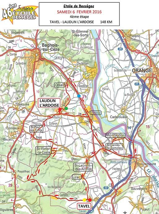 planimetria 2016 » 46th Etoile de Bessèges (2.1) - 4a tappa » Tavel › Laudun (148 km)
