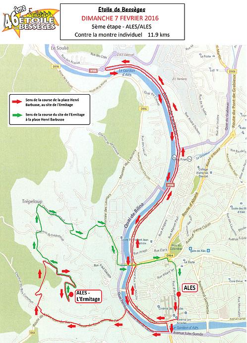 planimetria 2016 » 46th Etoile de Bessèges (2.1) - 5a tappa » Alès › Alès (ITT) (12 km)