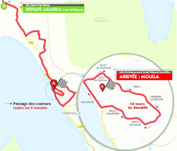 altimetria planimetria 7a tappa » Cap Esterias › Libreville (130 km) de La Tropicale Amissa Bongo