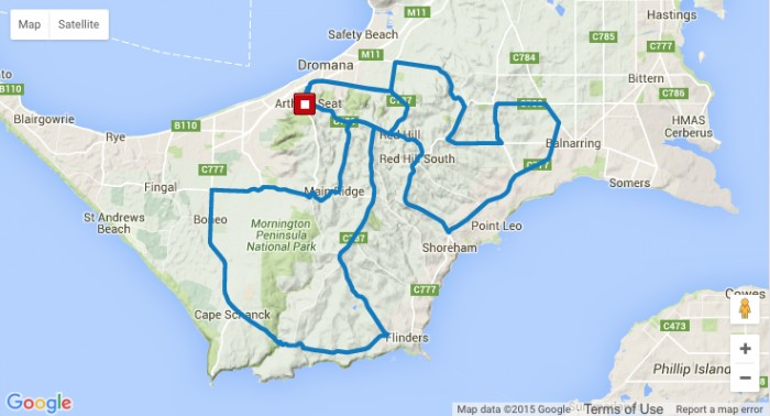 planimetria 2016 » Herald Sun Tour (2.1) - 2016 » Herald Sun Tour (2.1) - 4a tappa » Arthurs Seat › Arthurs Seat (122 km)