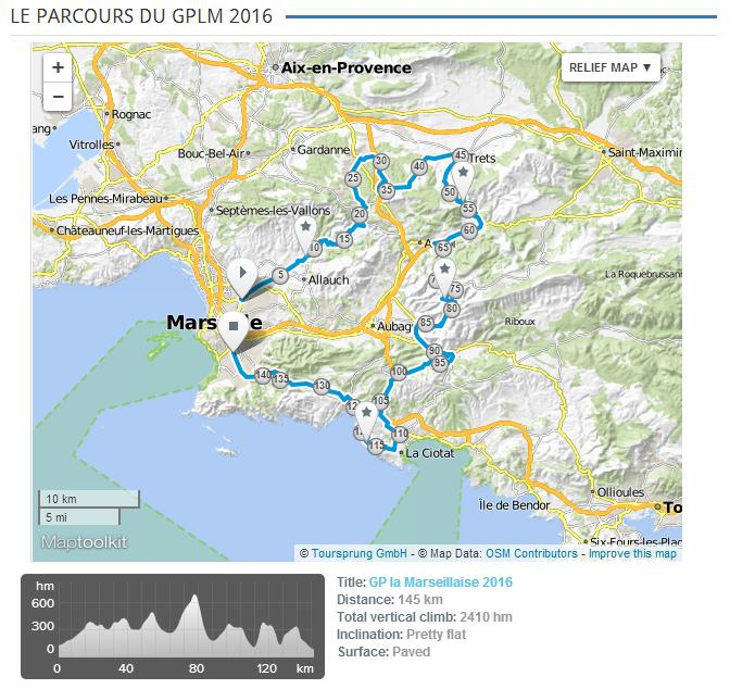 planimetria 2016 » 37th G.P. La Marsigliese - Grand Prix Cycliste la Marseillaise (1.1) Marsiglia Marseille (152.2 km)