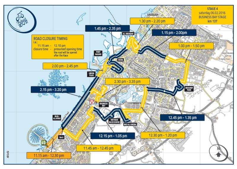 planimetria 2016 2016 » 3rd Dubai Tour (2.HC) - 4a tappa » Dubai ›Burj Khalifa (137 km)