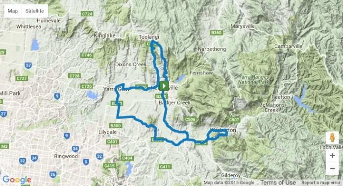 planimetria 2016 » Herald Sun Tour (2.1)»1a tappa » Healesville › Healesville (126 km)