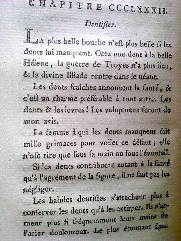 Le Tableau de Paris par Mercier (1782) Dentis10