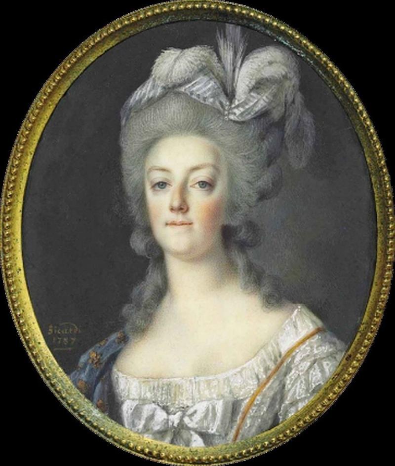 Portraits de Marie-Antoinette et Louis XVI, par Louis-Marie Sicard, dit Sicardi ou Sicardy Sicard10