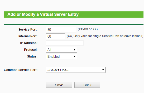 Abrir puertos del Router TP-LINK Router14