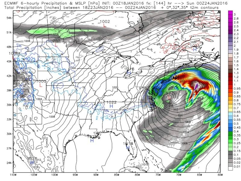 01/22/16-01/23/16 Update #1 - Historic Storm Possible - Page 6 Ecmwf_45