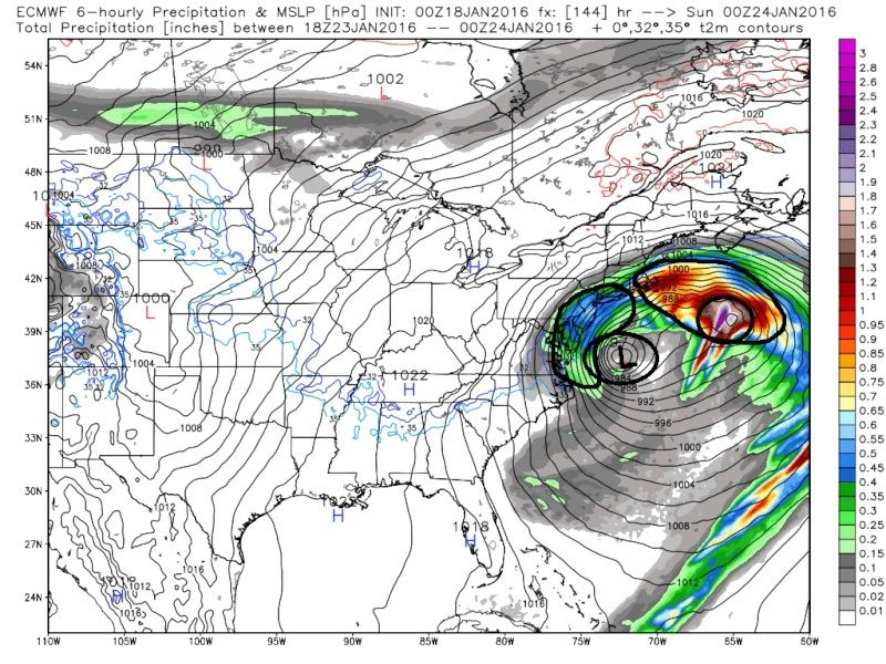 01/22/16-01/23/16 Update #1 - Historic Storm Possible - Page 6 Ecmwf_48