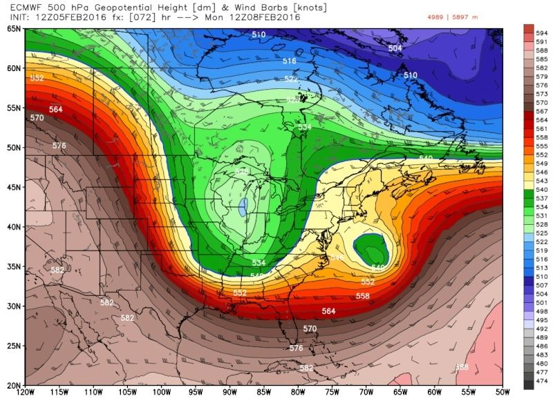 February 9th Possible Inverted Trough - Page 5 Ecmwf_83