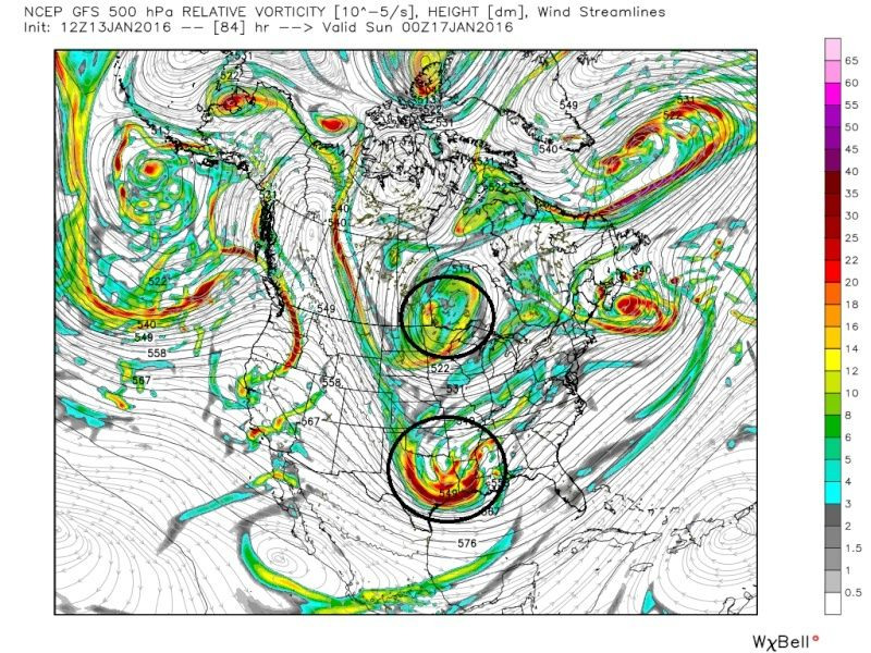 State of the Union: Winter Edition & MLK Day Possible Storm Gfs_z515