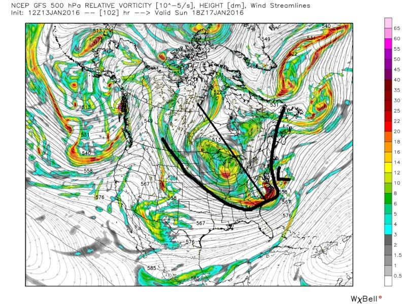 State of the Union: Winter Edition & MLK Day Possible Storm - Page 2 Gfs_z518