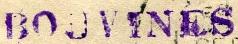 * BOUVINES (1894/1918) * 010910