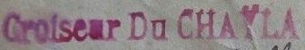 * DU CHAYLA (1897/1921) * 060510