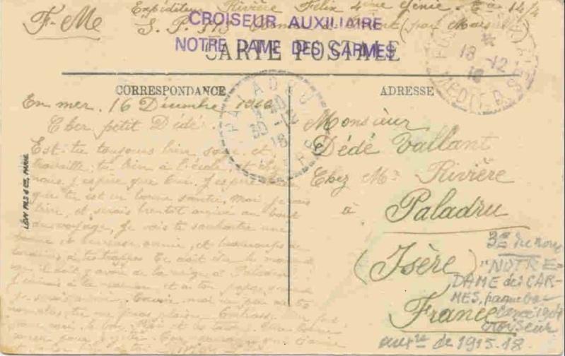 * NOTRE DAME DES CARMES (1915/1918) * 181211