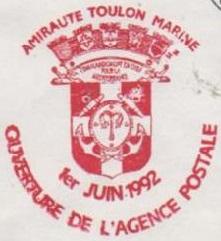TOULON - AMIRAUTE - TOULON - MARINE 920610