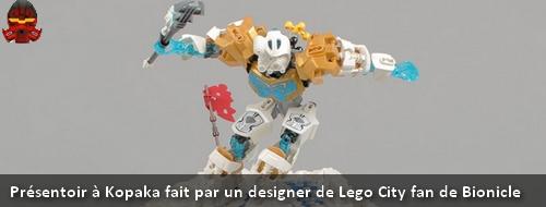 [MOC] Présentoir à Kopaka fait par un designer de Lego City fan de Bionicle Ban110