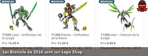 [Produit] Les ensembles Bionicle de 2016 sont sur Lego Shop Ban210