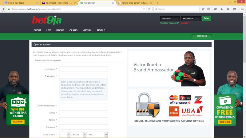 how to register on bet9ja(bet9ja registration) Bet9ja10