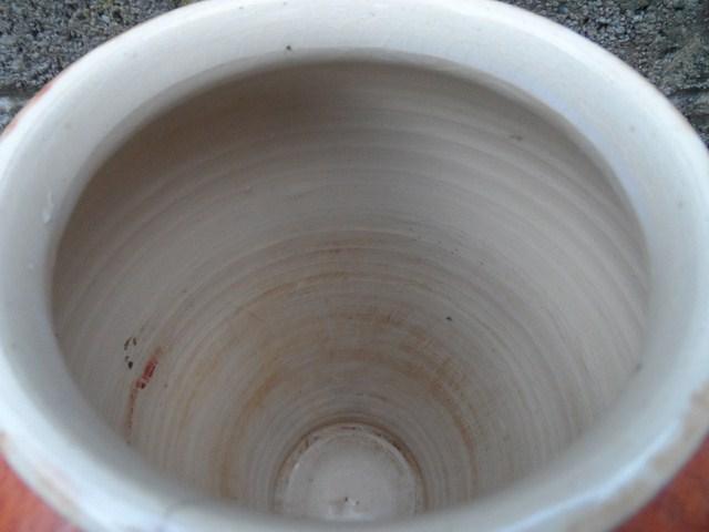 Burnt orange mottled ceramic vase  003_6411
