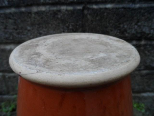 Burnt orange mottled ceramic vase  004_6411