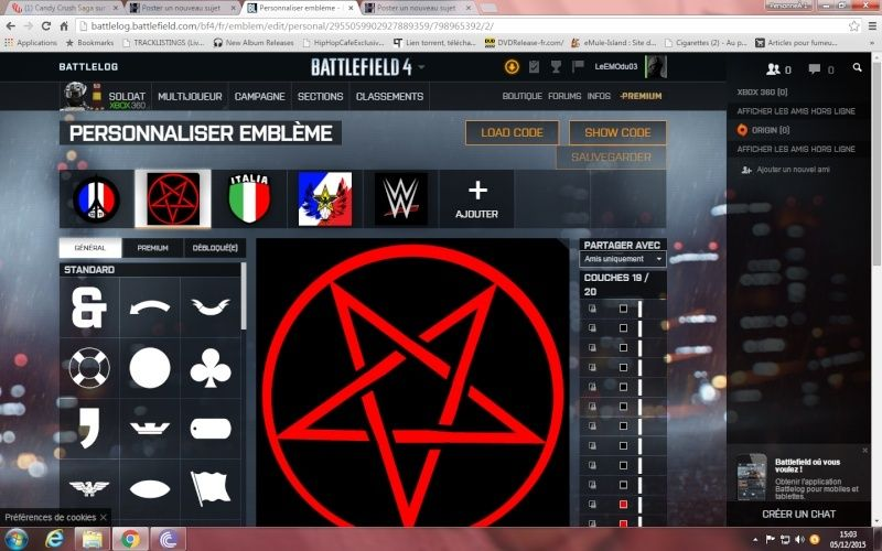 Comment ajouté et appliquer un embleme sur Battlelog. Emblem10