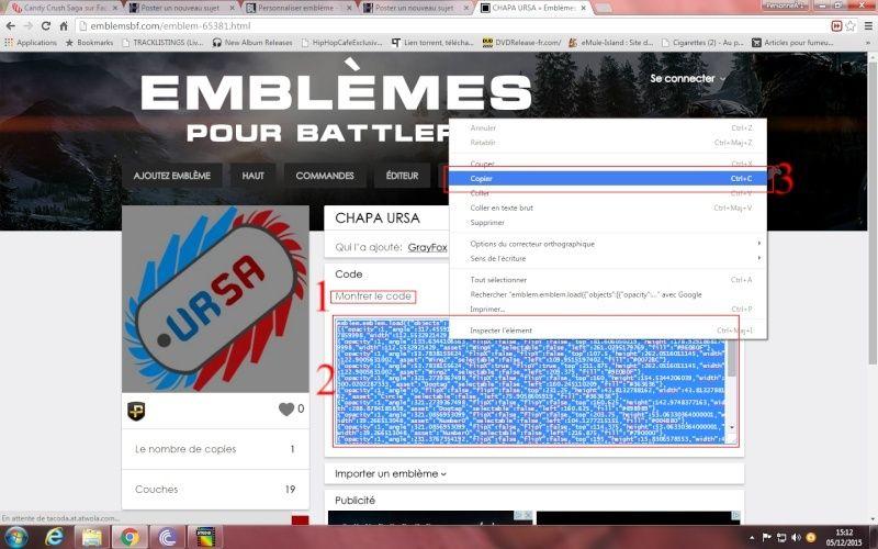 Comment ajouté et appliquer un embleme sur Battlelog. Emblem11