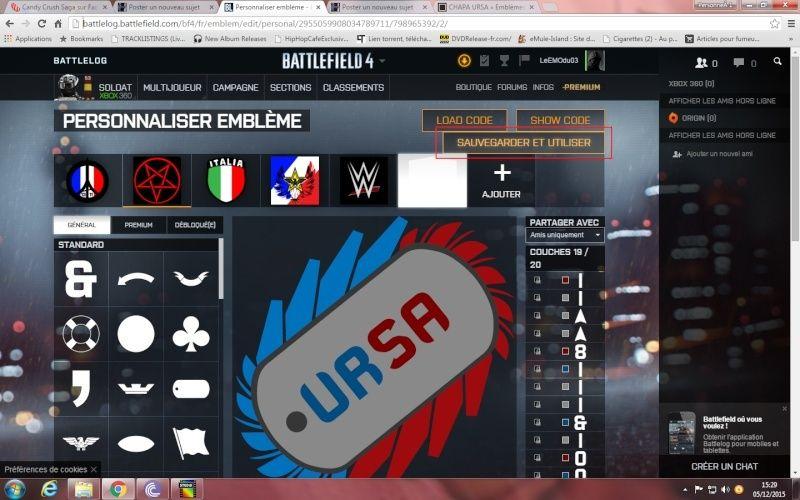 Comment ajouté et appliquer un embleme sur Battlelog. Emblem16