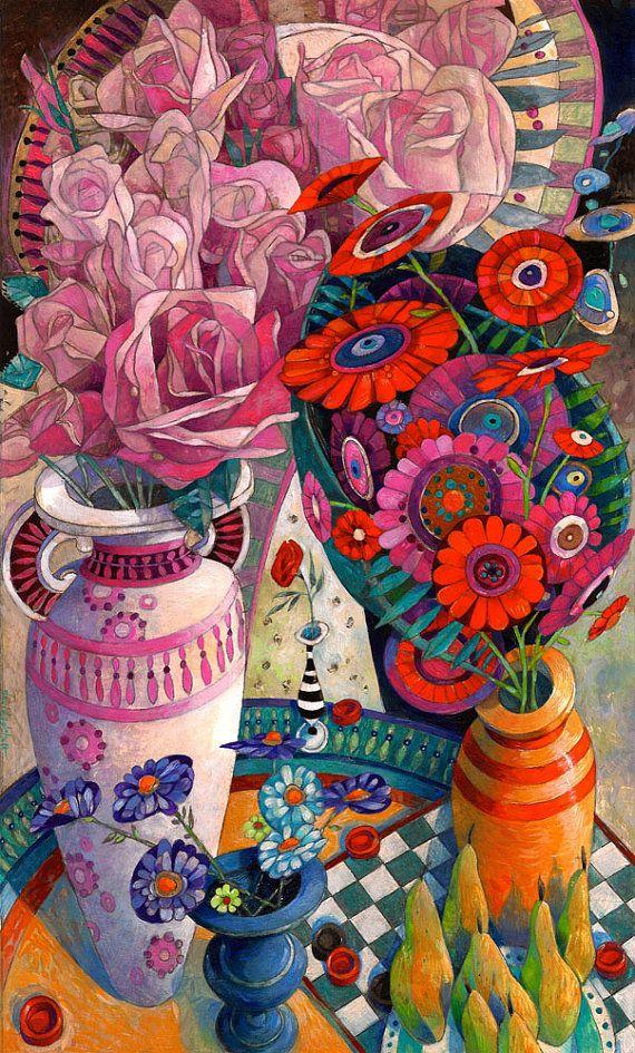 Les FLEURS  dans  L'ART - Page 3 8bc85810