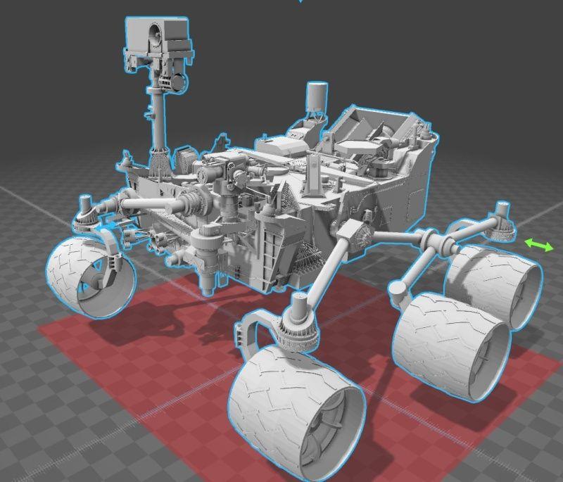 Modello 3D di Curiosity Immagi10