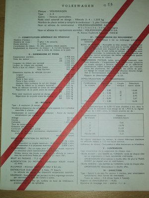 Certificat de conformité VOLKSWAGEN type 1-4 (LOWLIGHT) Confor10