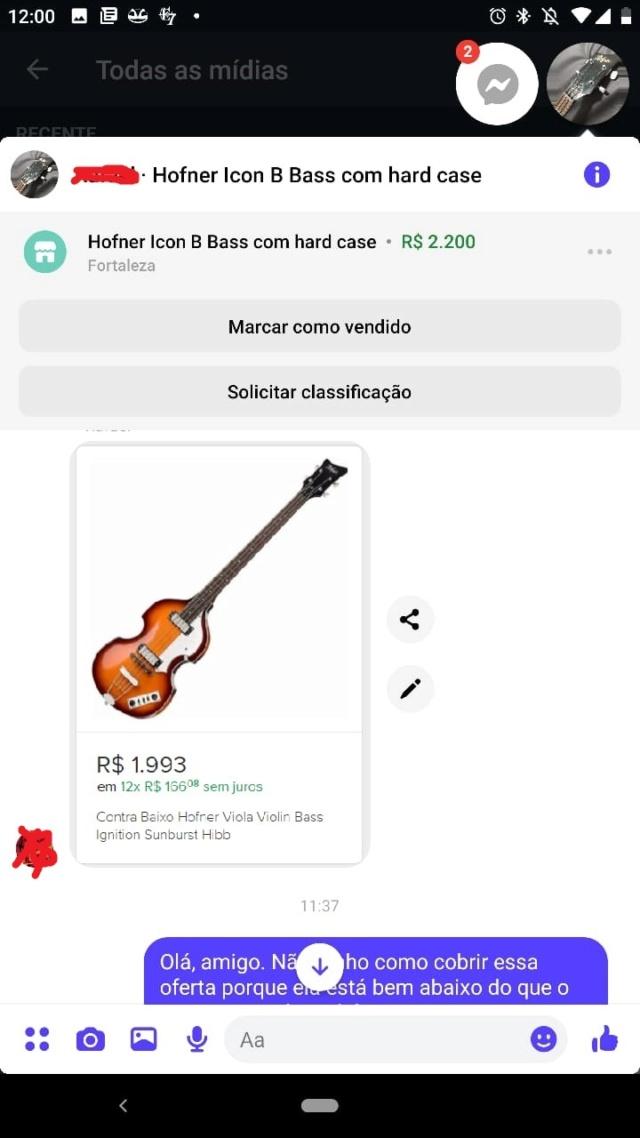 """Alerta - provável tipo de golpe em compra e venda de instrumentos usando ML: """"desvalorização simulada"""" Foto_212"""