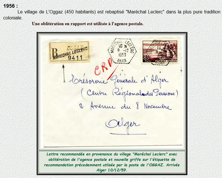 Oggaz (Oran) Maréchal Leclerc Algérie Oran10