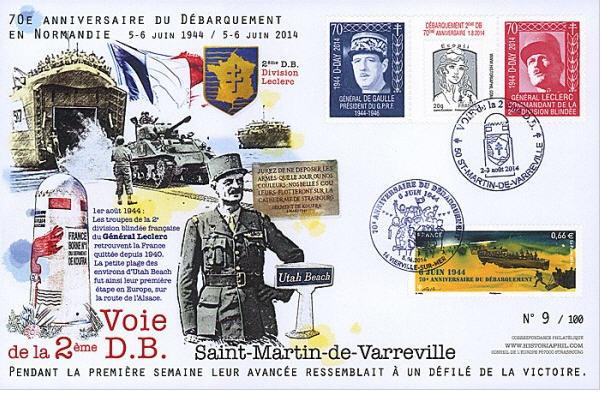 Voie de la 2ème DB : Saint-Martin-de-Varreville 2014 Varrev10