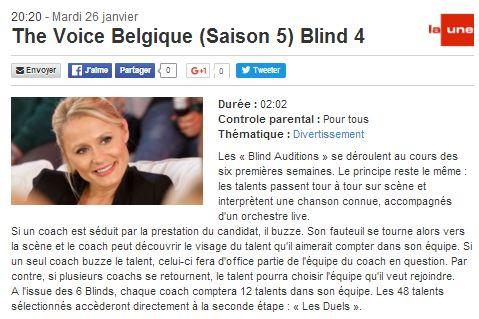 [26/01/2016-20h20] RTBF La Une - The Voice Belgique - Blind 4 The_vo13