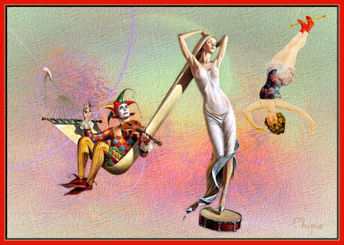 surréalisme février ; le violoniste au ciseau , le funanbule ballonné Surr10