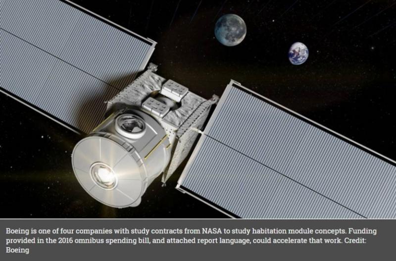 Le congrès demande à la NASA de développer un habitat pour l'espace profond Scree156
