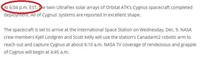 Lancement Atlas V - Cygnus OA-4 (ex Orb-4) - 6 décembre 2015 - Page 11 Screen40