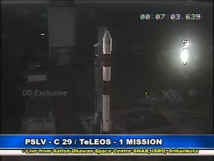 Lancement PSLV(CA) C29 - TeLEOS-1 + KR 1 + VELOX C1 + VELOX 2 + Galassia  - 16 Décembre 2015   Screen93