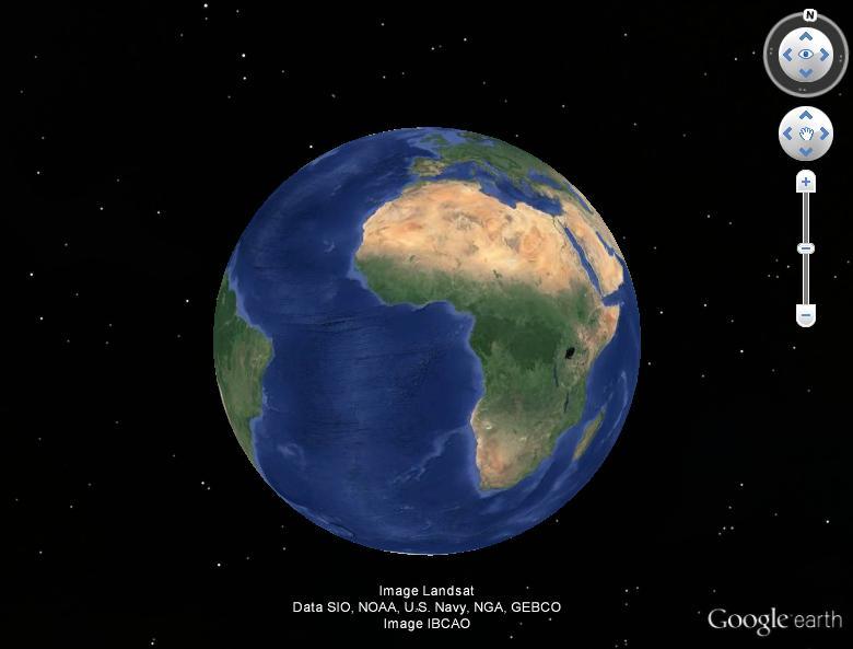 La Terre magnifiée par une photo, vue de la Lune. Terre111