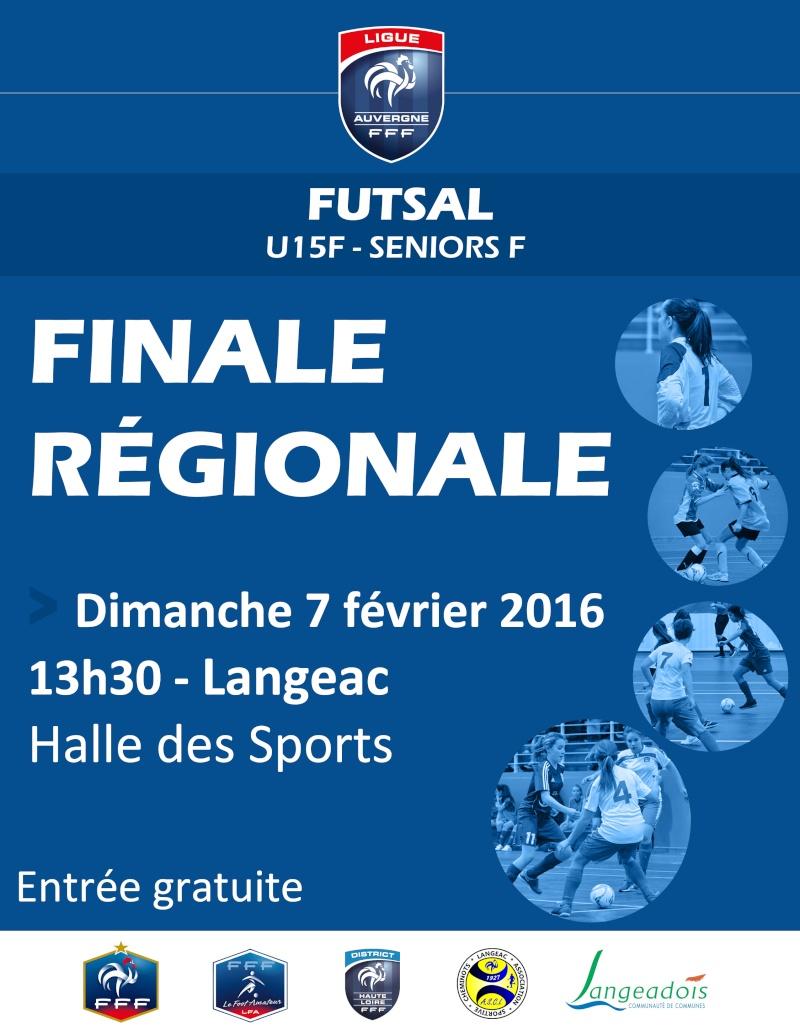 Finale régionale Futsal U15F et Seniors F Finale11