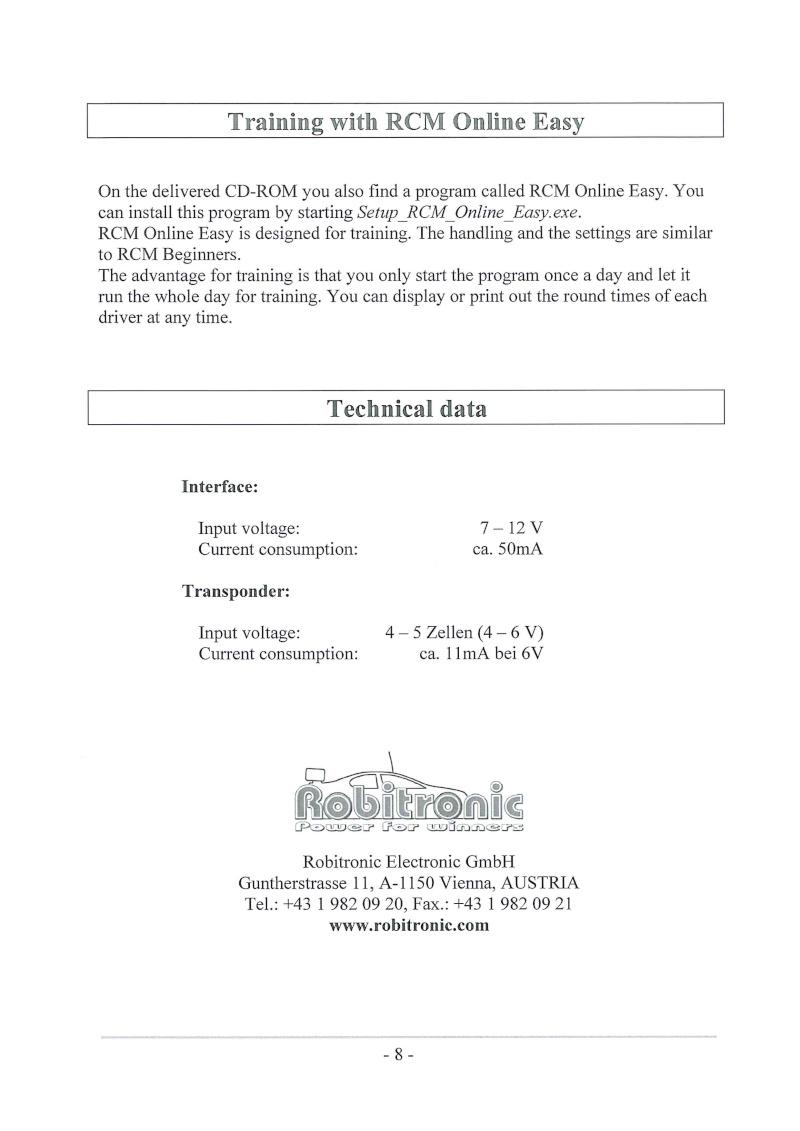 PUCES ROBITRONIC ET GOGOLAPS données techniques voltage  Doc11911